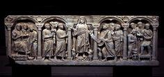 Dominus legem dat, sarcofago, terzo quarto del IV secolo. Musée de l'Arles chrétienne, Arles