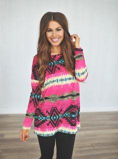 Dottie Couture Boutique - Magenta Tribal Tunic, $28.00 (http://www.dottiecouture.com/magenta-tribal-tunic/)