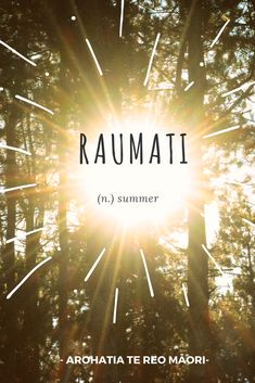 Raumati is the Māori word for summer Maori Words, Summer, Movies, Movie Posters, Summer Time, Films, Film Poster, Cinema, Movie
