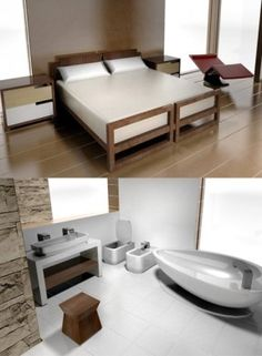 contemporary dollhouse furniture. classic contemporary furniture bedroom and bathroom set for modern dollhouses the perfect complement emerson dollhouse a