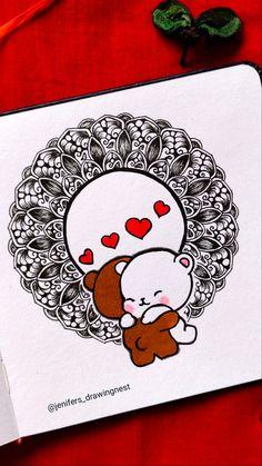 Cute Doodle Art, Doodle Art Designs, Doodle Art Drawing, Mandala Drawing, Mandala Art Therapy, Mandala Art Lesson, Mandala Artwork, Art Drawings For Kids, Art Drawings Sketches Simple