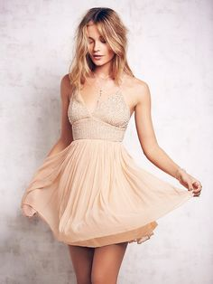 Pin for Later: This Website Is 100% Devoted to Helping You Find Nude Apparel Based on Your Skin Tone  Free People Like a Diamond Dress ($250)