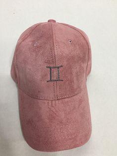 09a1bc0d387 gemini zodiac sign pink suede baseball cap by ValDesignsOnline. Rachael  Tatko · Hats · 9color Unisex women men sun hat ...
