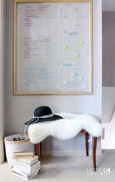 Learn how to create a stylish and highly effective schedule and chore board!