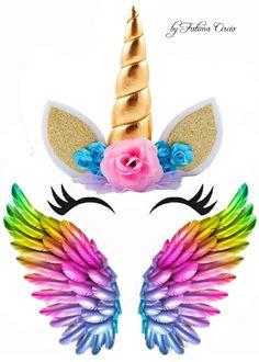 Unicorn Cupcakes Toppers, Unicorn Cake Topper, Disney Princess Cupcakes, Circus Crafts, Unicornios Wallpaper, Happy Birthday Printable, Unicorn Themed Birthday Party, 1st Birthday Cake Topper, Pony Cake