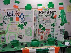 Another example of an Ireland table for World Thinking Day