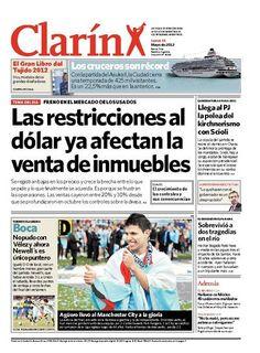 Las restricciones al dólar ya afectan la venta de inmuebles. Más información: http://www.clarin.com/edicion-impresa/