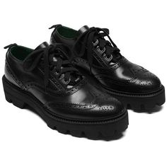 England Brogue Shoe Black Smooth Calf ❤ liked on Polyvore featuring shoes, oxfords, brogue dress shoes, balmoral shoes, black lace up shoes, laced shoes and brogue oxford