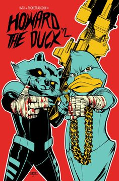 "Howard the Duck ""Run the Jewels"" cover"