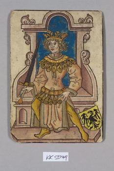 "König [King] Deutschland [Germany], ""Hofämterspiel"" für König Ladislaus ""Postumus"", c. 1455"