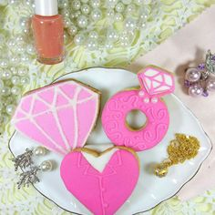 Pink themed cookies for GALentine