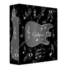 Black & Silver Guitar Music Binder