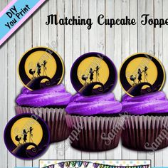 Elegant Nightmare Before Christmas BABY SHOWER Cupcake Toppers Other Party Supplies  Sold Seperately   Http:/
