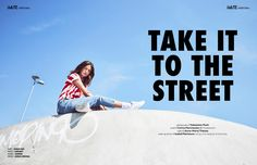 TAKE IT TO THE STREET webitorial for iMute Magazine Photographer | Sebastian Muth Model | Corina @ Modelwerk Hamburg Stylist | Anna-Maria Thiecke Make up & Hair | Isabell Flierbaum using rms beauty & Davines