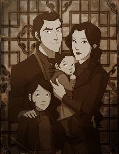 Family Portrait by Pugletz Yes I am a die hard Makorra fan however this portrait was to beautiful to pass up.