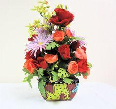 Silk Floral Arrangement by  SandyNewhartDesigns