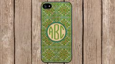 Personalized Monogram Bohemian Rhapsody Green for iPhone 4/4s/5/5s/5c Samsung Galaxy S3/S4/S5/Note 2/Note 3 by TopCraftCase, $6.99