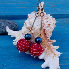 Earrings in a nautical style.