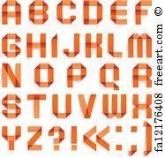 Blue Letters Alphabet Folded Of Colored Paper Blue Letters A B C D E F G H I J K L M N O P Q R S T U V