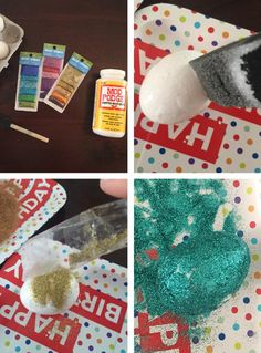 We have another colorful and fun Easter egg DIY craft project for you today on the blog! Throw in a dash of glitter and you're party-ready! #Easter #crafts #DIY
