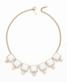 Faceted square short necklace. Ann Taylor. $58