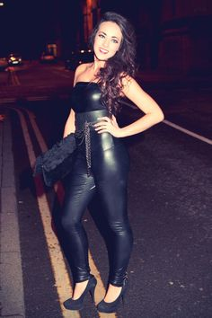 Stephanie Davis at Hollyoaks Kieron Richardson birthday party Jan 2011 Boots And Leggings, Shiny Leggings, Leather Leggings, Hottest Female Celebrities, Beautiful Celebrities, Celebs, Worlds Beautiful Women, Latex, Stephanie Davis