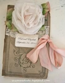 Guest book made from a vintage ledger wedding.