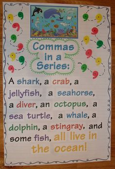 Use this Anchor Chart idea with the children - use different color pencils for each word in the series.