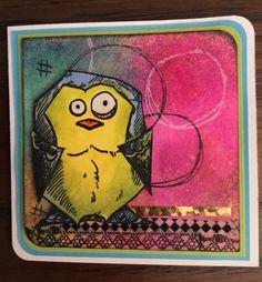 """I used Tim Holtz """"Crazy Birds""""....so fun! (Made by Debi Pursley)"""