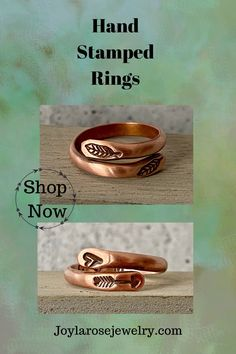 Copper Rings, Copper Jewelry, Boho Jewelry, Healing Gemstones, Boho Accessories, Handcrafted Jewelry, Handmade, Hand Stamped Jewelry, Unique Rings