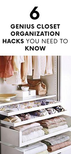 6 Genius Closet Organization Hacks You Need to Know