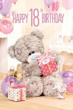 ♥ Tatty Teddy ♥ Happy 18th Birthday Quotes, Happy Birthday Husband, Happy Birthday Posters, 18th Birthday Cards, Birthday Greetings, Happy Birthday Wishes, Birthday Pins, Birthday Week, 50th Birthday