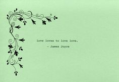 James Joyce Quote Made on Typewriter Art Quote Wall Art - Love loves to love love. by FlightOfFancyPrints on Etsy