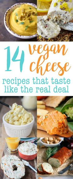 14 Vegan Cheese Recipes that Taste Like the REAL DEAL! via @thecrunchychron