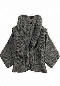 this cardigan looks so cozy. Knitwear Fashion, Knit Fashion, How To Purl Knit, Knit Jacket, Knit Cardigan, Pulls, Designing Women, Hand Knitting, Knitting Patterns