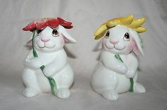 Fitz and Floyd Bunny Blooms Salt and Pepper Shaker | eBay