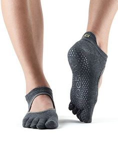 1eb9ba058 Toesox Women's Bellarina Full Toe Grip Non-Slip for Ballet, Yoga, Pilates,  Barre Toe Socks