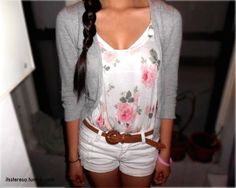 cute summer style, higher shirt though.