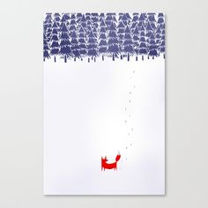 Alone+in+the+forest+Canvas+Print+by+Robert+Farkas+-+$85.00