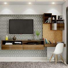 Bedroom Tv Unit Design, Tv Unit Bedroom, Tv Unit Interior Design, Tv Unit Furniture Design, Bedroom Tv Wall, Study Room Design, Living Room Tv Unit Designs, Study Room Decor, Bedroom Furniture Design