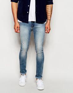 Jeans von Dry Cast Stretch-Denim ausgebleichte Optik verdeckter Hosenschlitz klassischer Fünf-Taschen-Stil supereng - nah am Körper geschnitten Maschinenwäsche 98% Baumwolle, 2% Elastan unser Model trägt 32 Zoll/81 cm Normalgröße und ist 6 Fuß 2 Zoll/188 cm groß