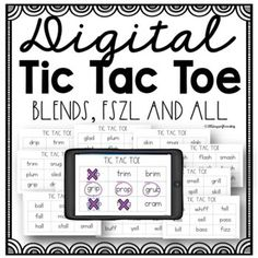 Digital Tic Tac Toe Games for blends, FSZL and all for Distance Learning First Grade Lessons, Tic Tac Toe Game, Short Vowels, Reading Fluency, Spice Things Up, Distance, Student, Learning, Games