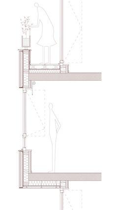 16 units / Paris 17th - Palast Section Drawing Architecture, Interior Architecture Drawing, Architecture Portfolio Layout, Detail Architecture, Architecture Drawing Sketchbooks, Conceptual Architecture, Architecture Building Design, Architecture Graphics, Architecture Diagrams