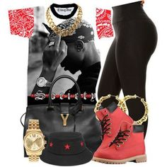 A fashion look from May 2014 featuring Yves Saint Laurent shoulder bags, Michael Kors watches and INC International Concepts necklaces. Browse and shop related… Swag Outfits For Girls, Cute Swag Outfits, Teenager Outfits, Dope Outfits, Trendy Outfits, Urban Fashion, Teen Fashion, Fashion Outfits, Womens Fashion