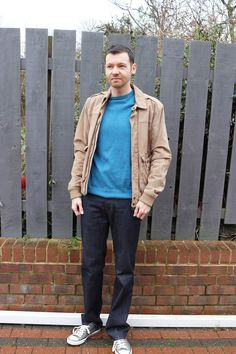 Outfit Of The Week - Blue Jumper from Gant, Suede Jacket from Mango MAN, PRPS Denim & Converse