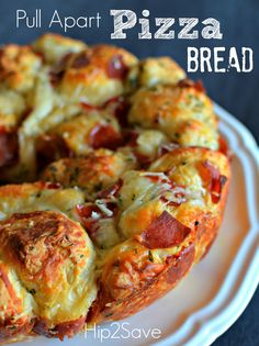 Use Rhodes rolls instead and let rise! Pull Apart Pizza Bread Recipe – Hip2Save