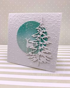 Fabric Christmas Card Winter WelcomeChristmas Cards, Holiday Cards and Winter Cards to Craft 2 Would work just as well with old cards. Christmas Card Crafts, Homemade Christmas Cards, Christmas Cards To Make, Xmas Cards, Homemade Cards, Handmade Christmas, Holiday Cards, Cricut Christmas Cards, Art Carte