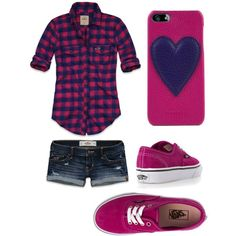 A Hollister and Vans cute girly outfit!(: