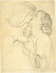 The Rose Garden (preliminary sketch) Dante Gabriel Rossetti