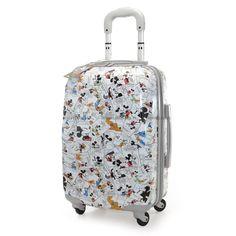 Mala Mickey Comic II, alta durabilidade, Forro personalizado com ícones do Mickey.Além de divertida a mala  é garantia de conforto e segurança!